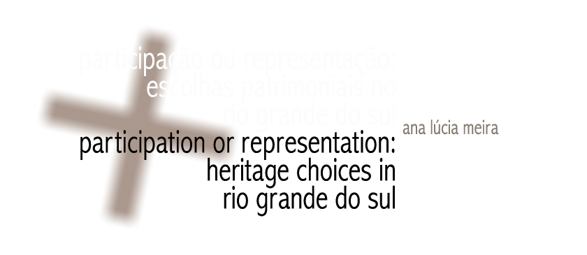 Participation Or Representation Heritage Choices In Rio